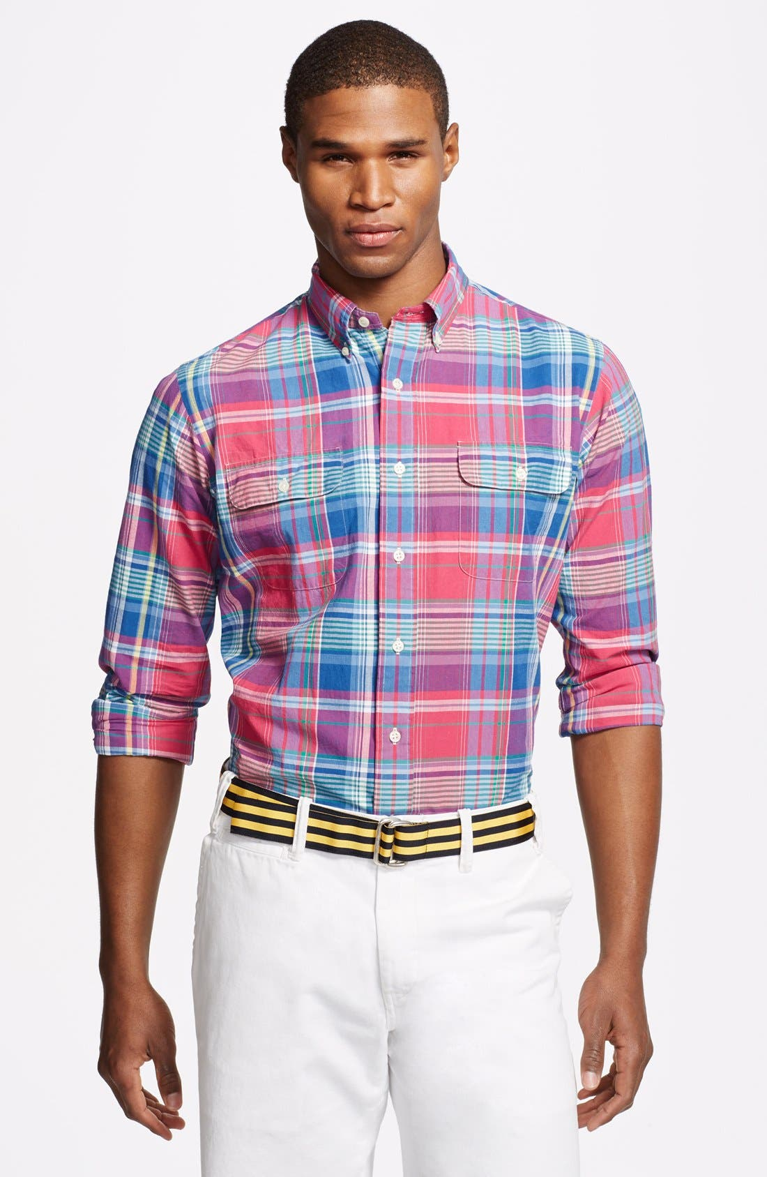 Alternate Image 1 Selected - Polo Ralph Lauren Regular Fit Madras Sport Shirt