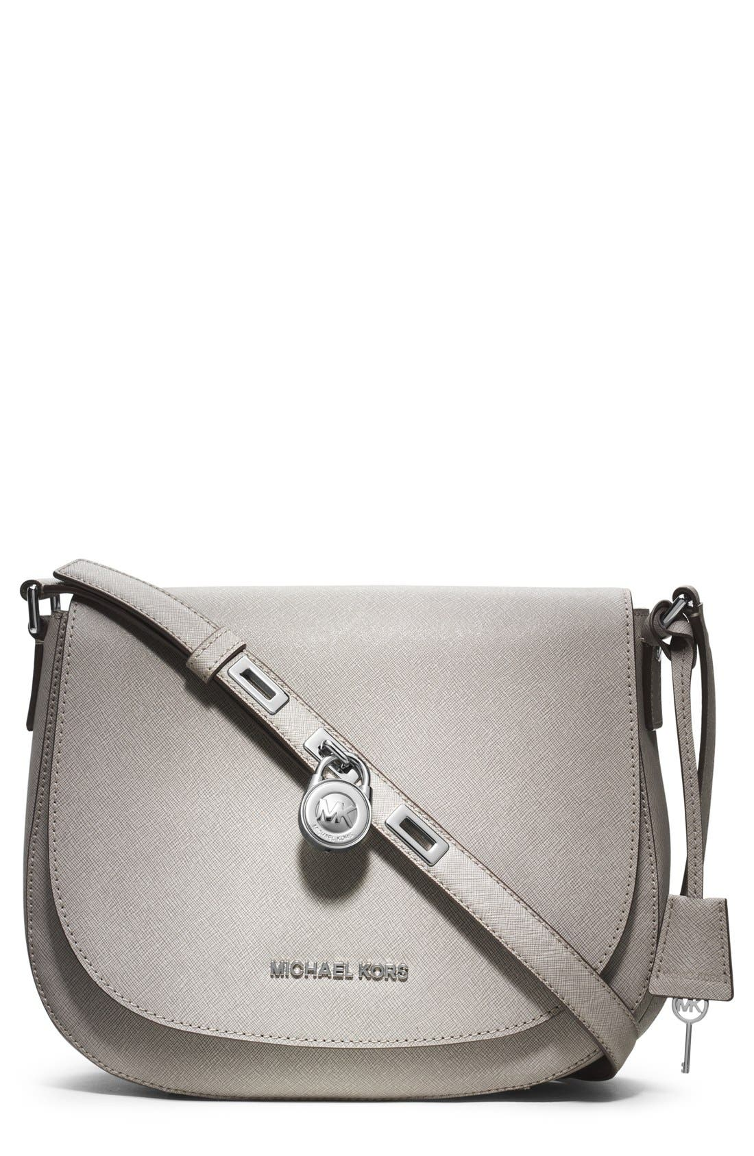 Alternate Image 1 Selected - MICHAEL Michael Kors 'Large' Saffiano Leather Crossbody Bag