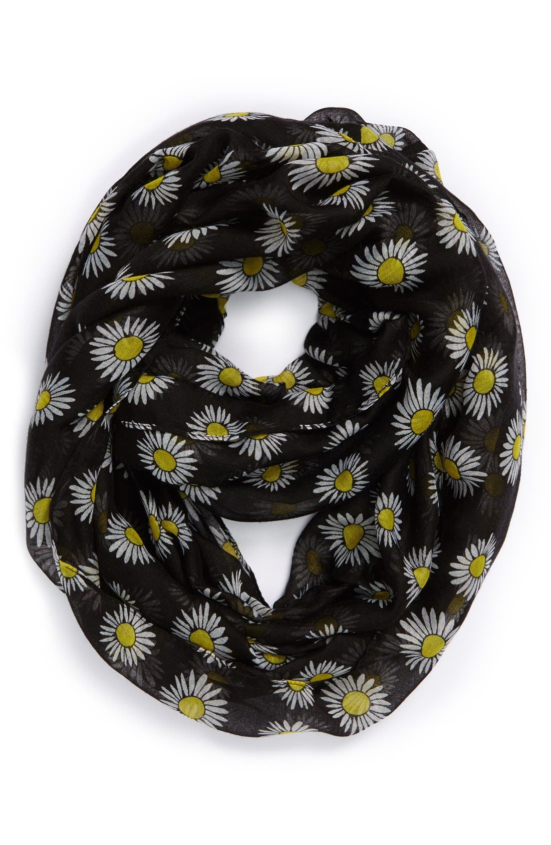 Main Image - The Accessory Collective Daisy Print Infinity Scarf (Girls)