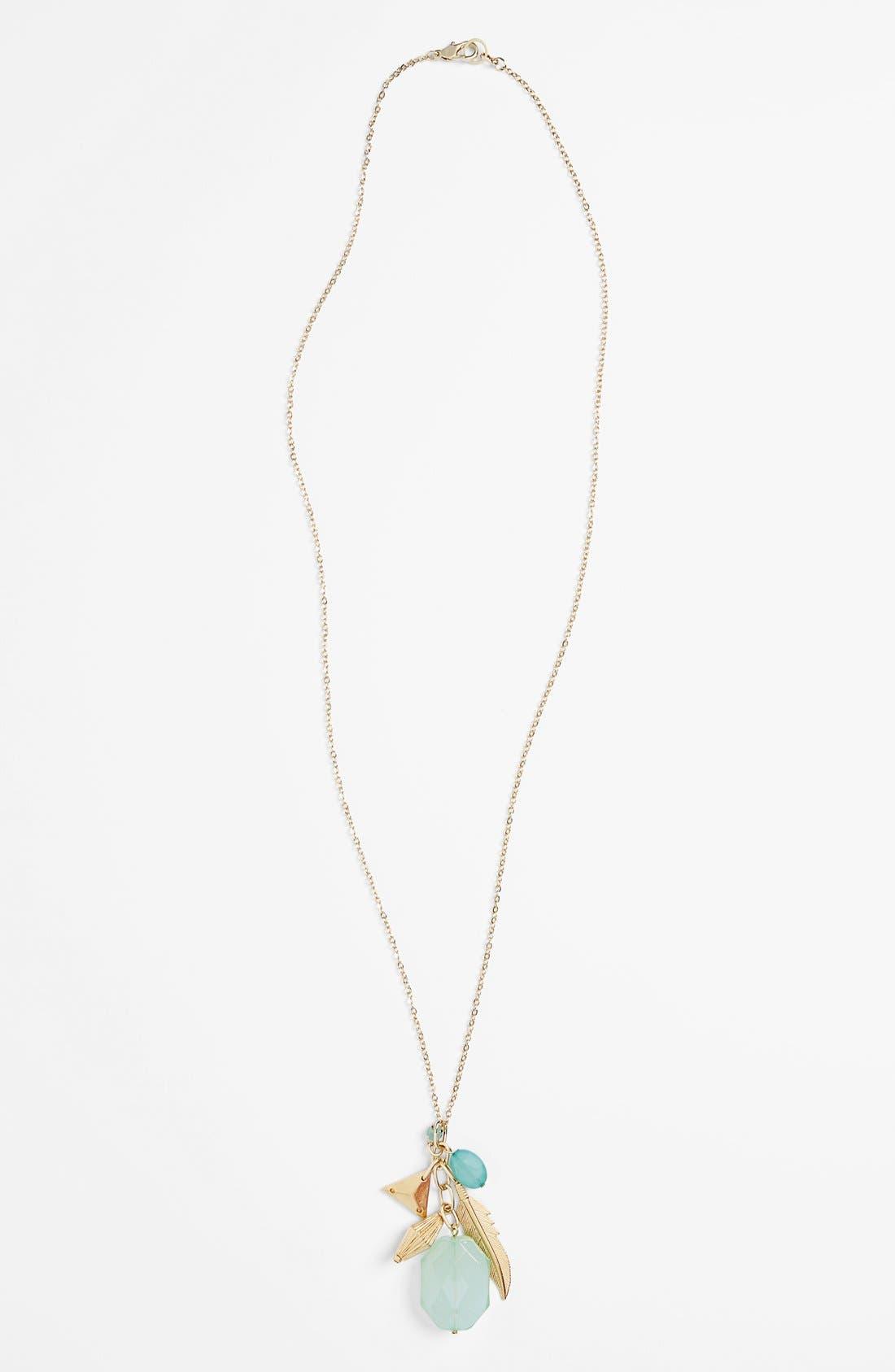 Alternate Image 1 Selected - Rachel Cluster Pendant Necklace (Juniors)