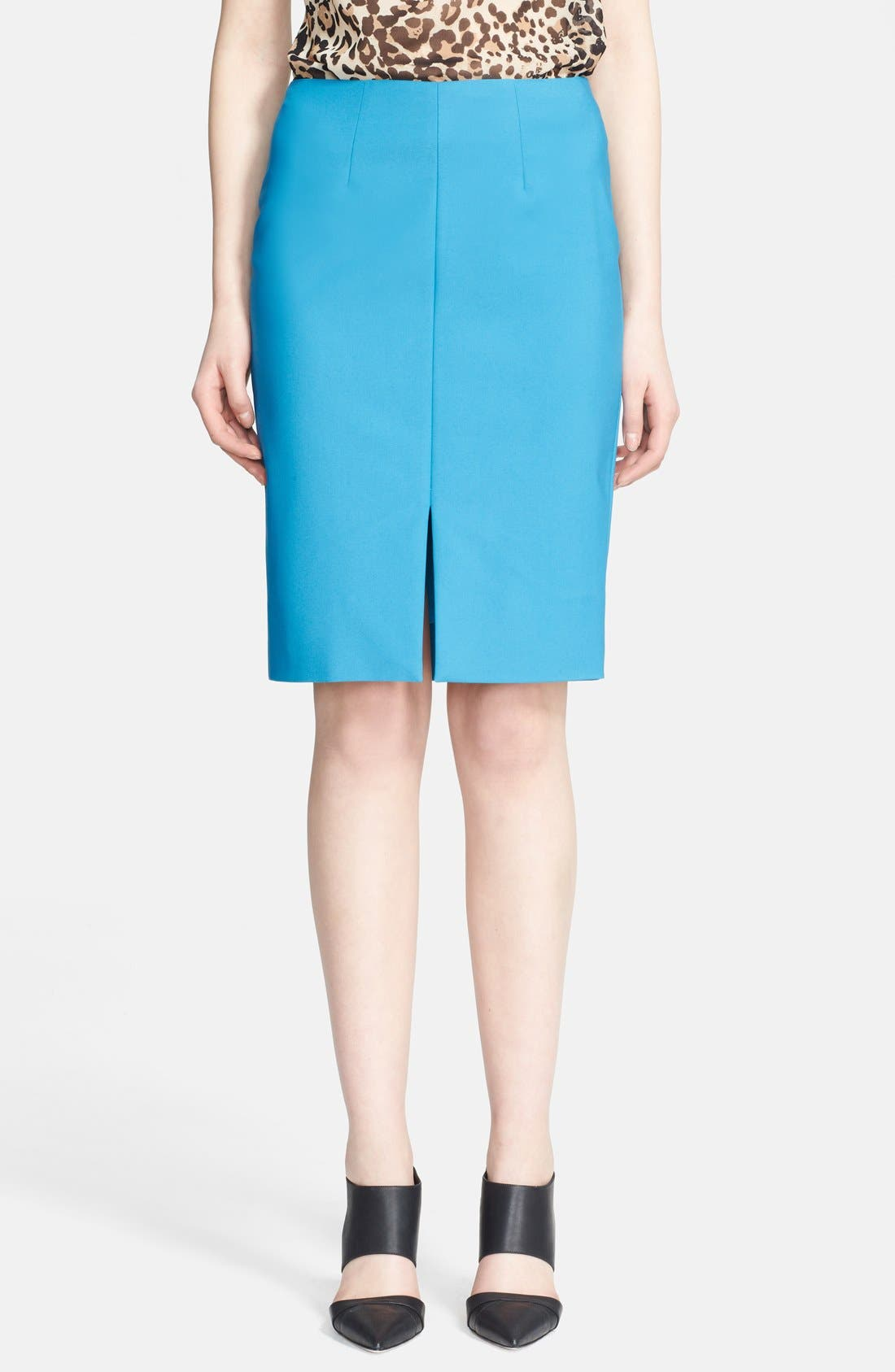 L'AGENCE Front Slit Pencil Skirt