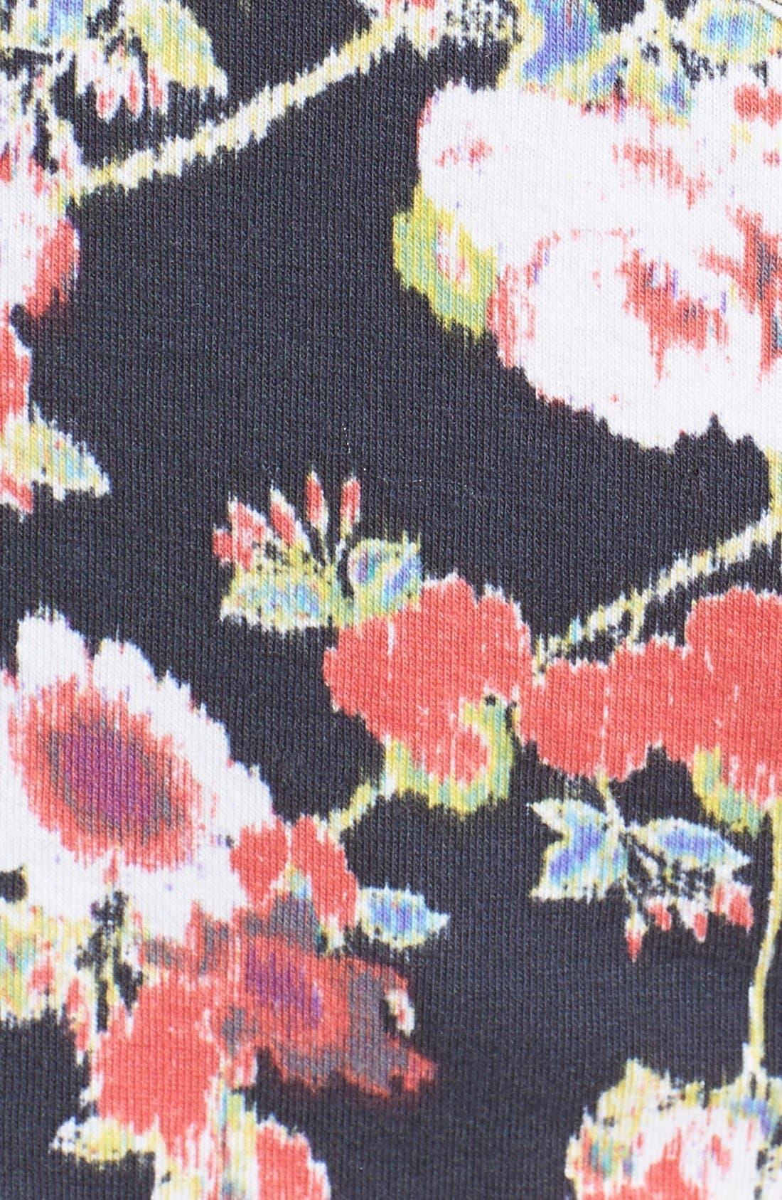 Alternate Image 3  - Lush Floral Cross Back Crop Tee (Juniors)