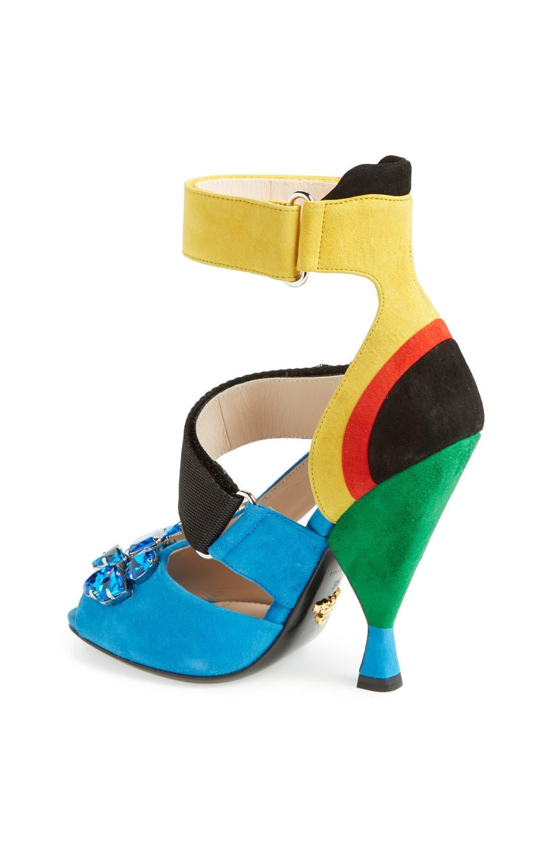 Alternate Image 2  - Prada Jeweled Colorblock Sandal