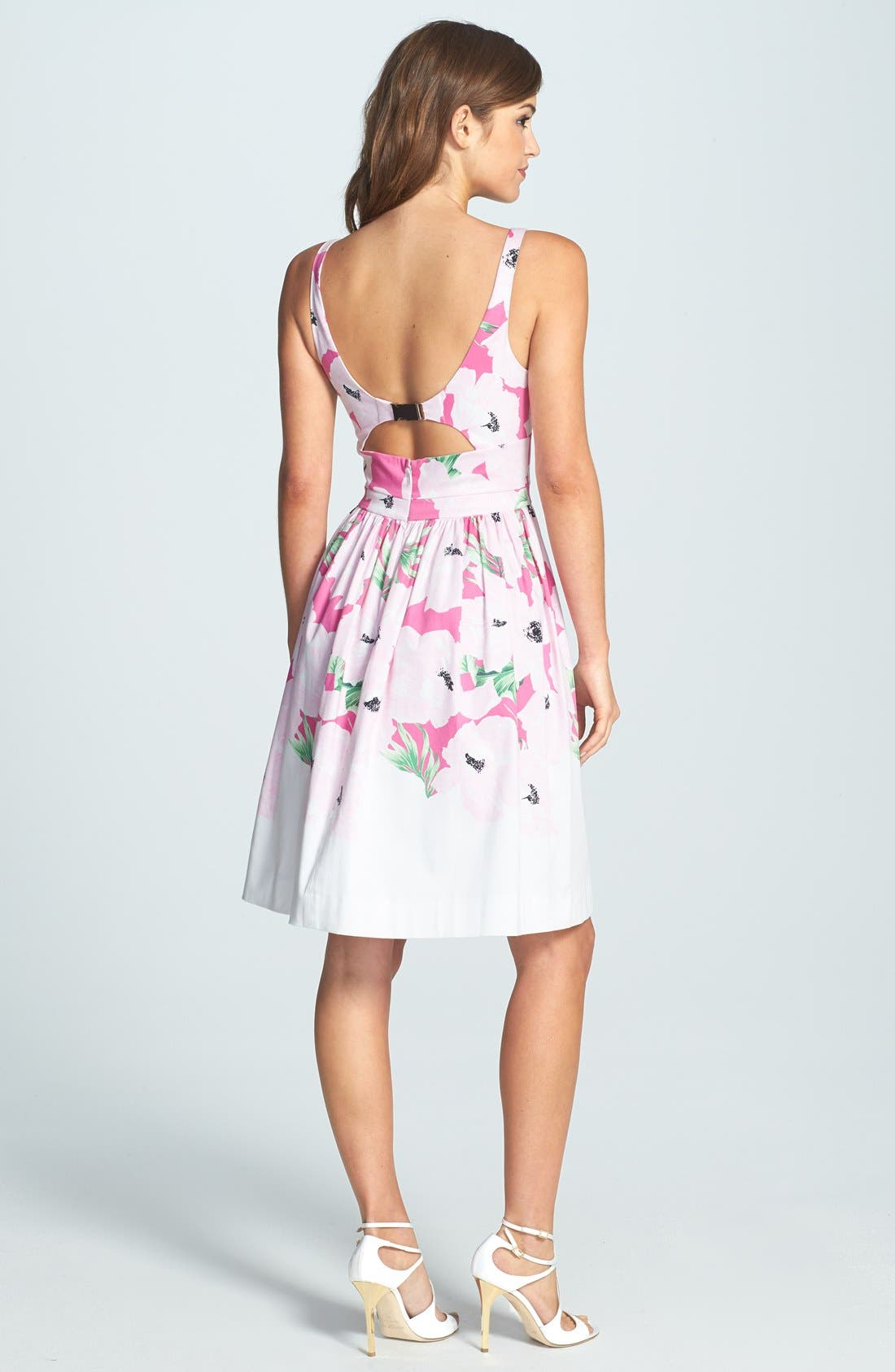 Alternate Image 2  - French Connection 'Holiday' Print Stretch Cotton Fit & Flare Dress