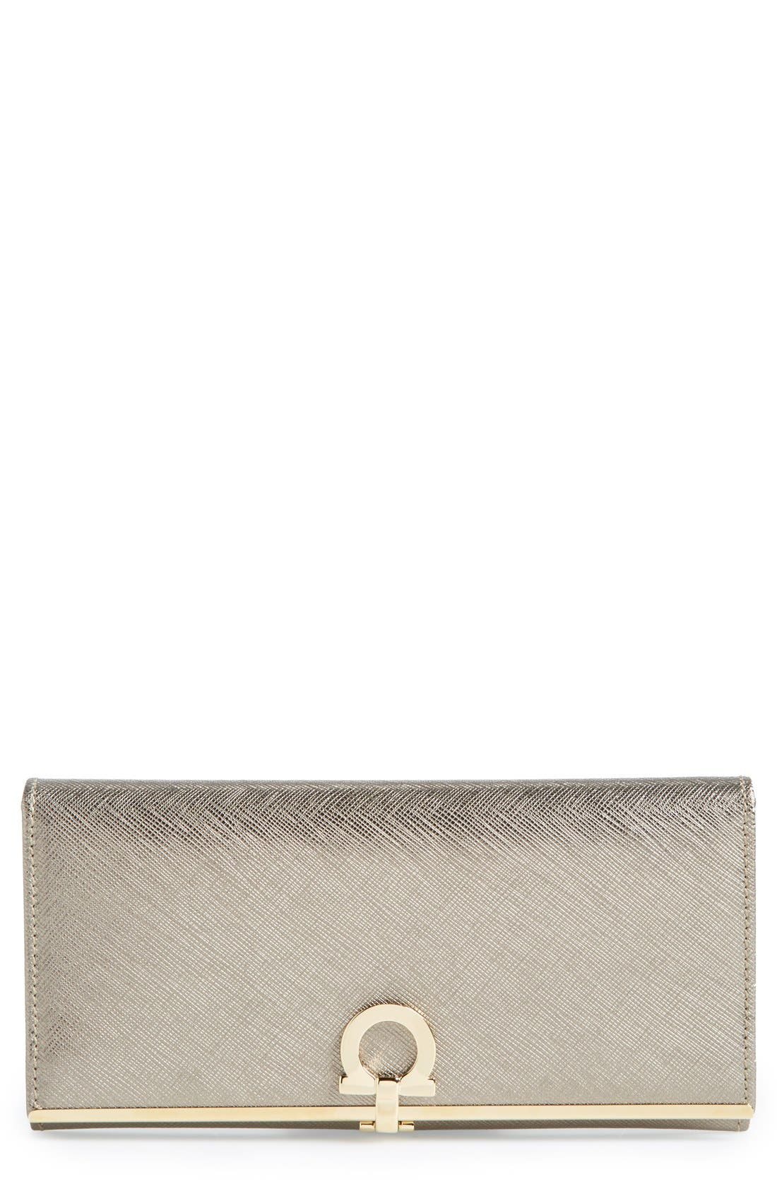 Alternate Image 1 Selected - Salvatore Ferragamo 'Icona Bar' Saffiano Calfskin Wallet