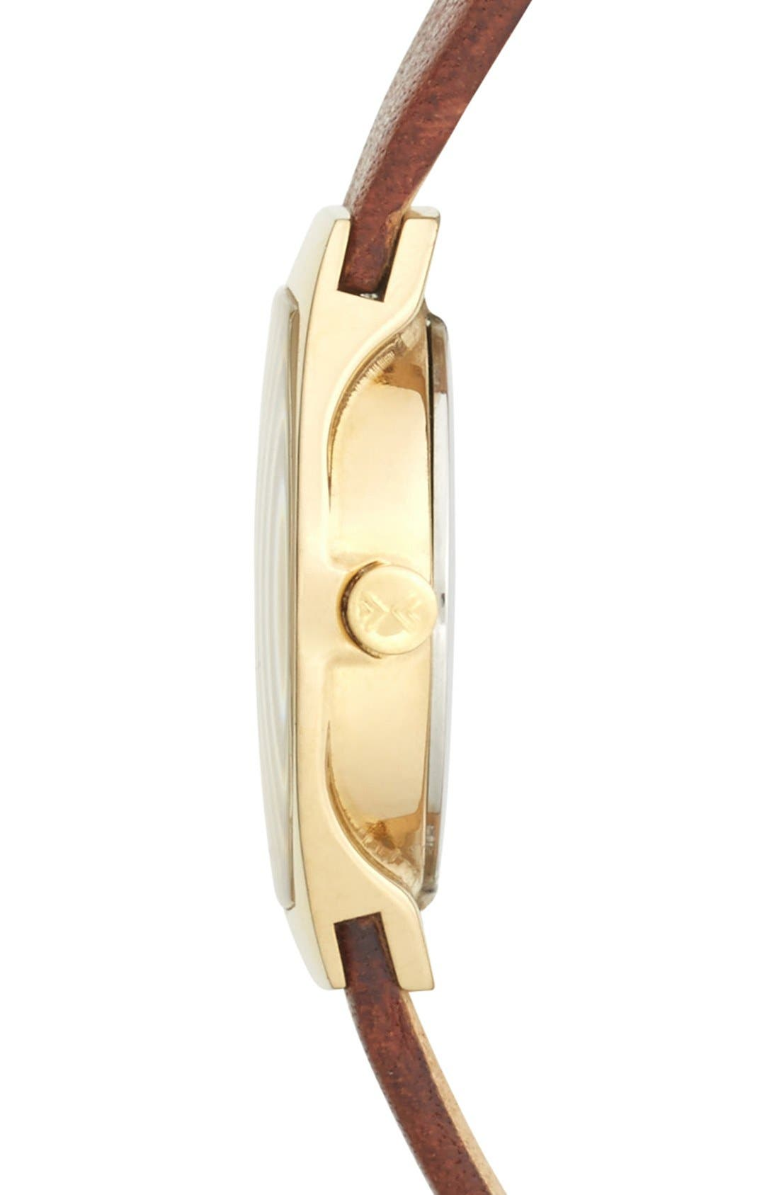 Alternate Image 3  - Skagen 'Asta' Crystal Bezel Leather Strap Watch, 22mm (Nordstrom Exclusive)