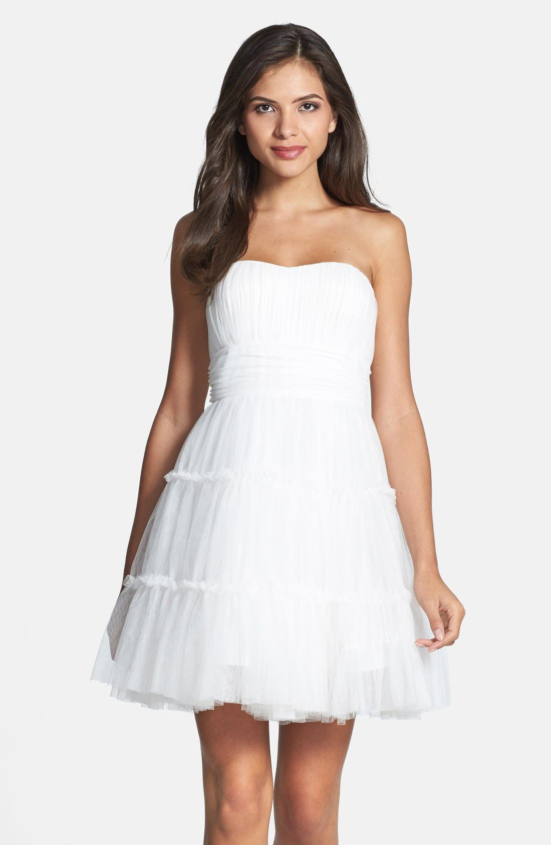 Alternate Image 1 Selected - Aidan Mattox Tulle Fit & Flare Dress