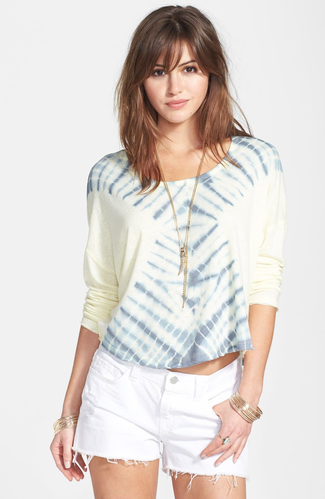 Main Image - Free People 'Sundown' Tie Dye Cotton Blend Top