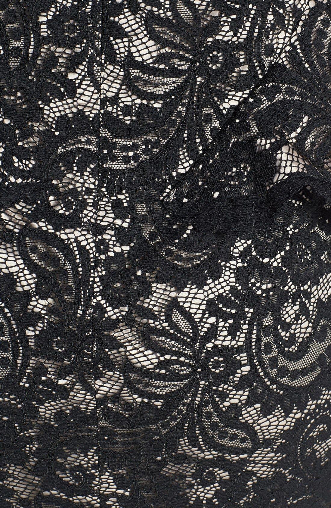 Alternate Image 4  - Eliza J Illusion Neck Lace Peplum Dress