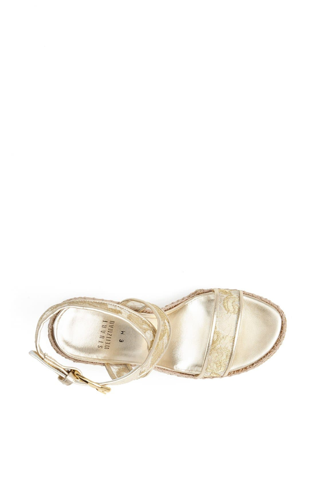 Alternate Image 3  - Stuart Weitzman 'Guipure' Wedge Sandal