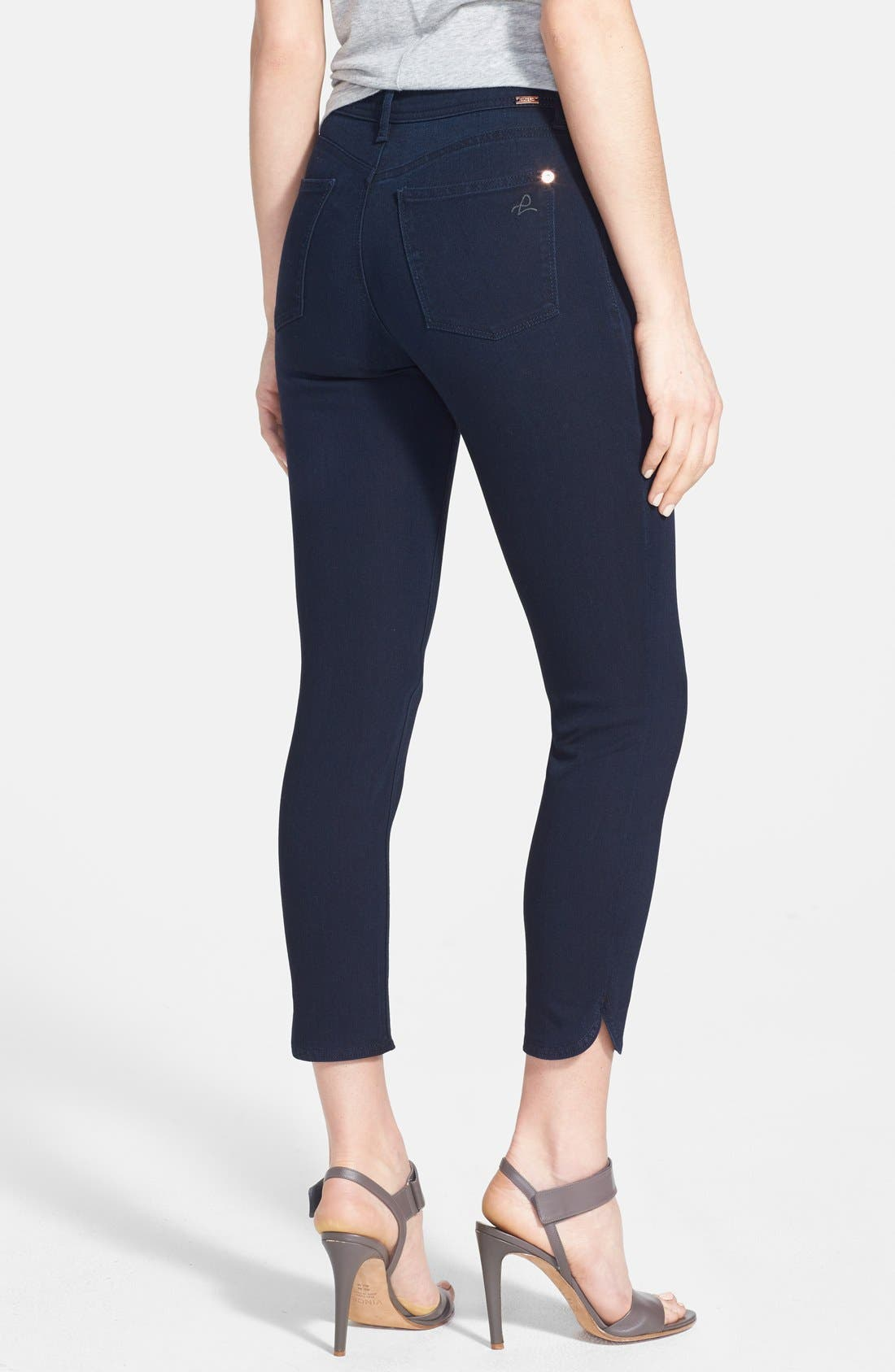 Alternate Image 2  - DL1961 'Bardot High Rise' Crop Jeans (Flat Iron)