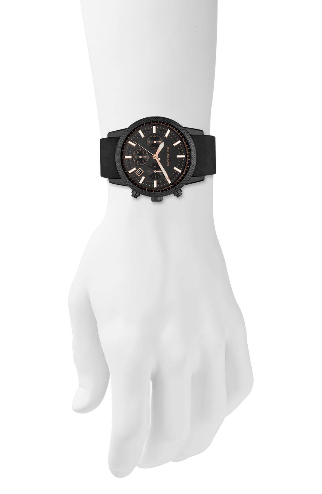 Alternate Image 4  - Michael Kors 'Scout' Chronograph Silicone Strap Watch, 43mm