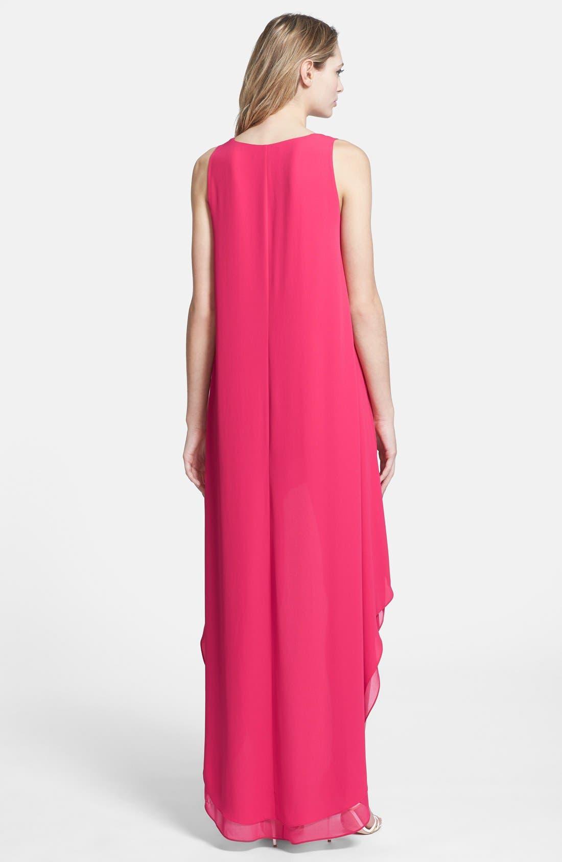 Alternate Image 2  - BCBGMAXAZRIA 'Ivana' High/Low Georgette Dress