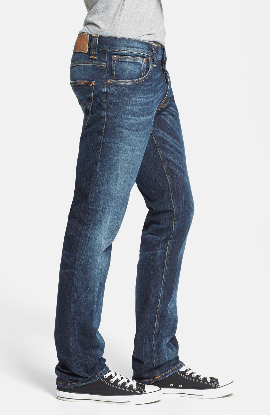 Alternate Image 3  - Nudie Jeans 'Grim Tim' Skinny Fit Jeans (Organic Clean Dark Blue)