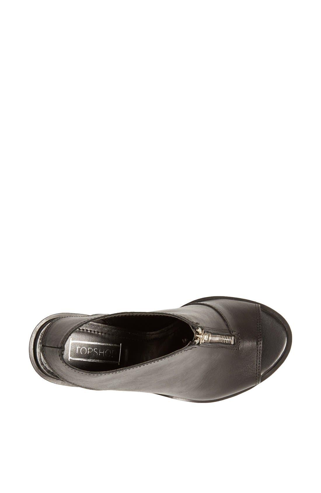 Alternate Image 3  - Topshop 'Saturn' Zip Front Sandal