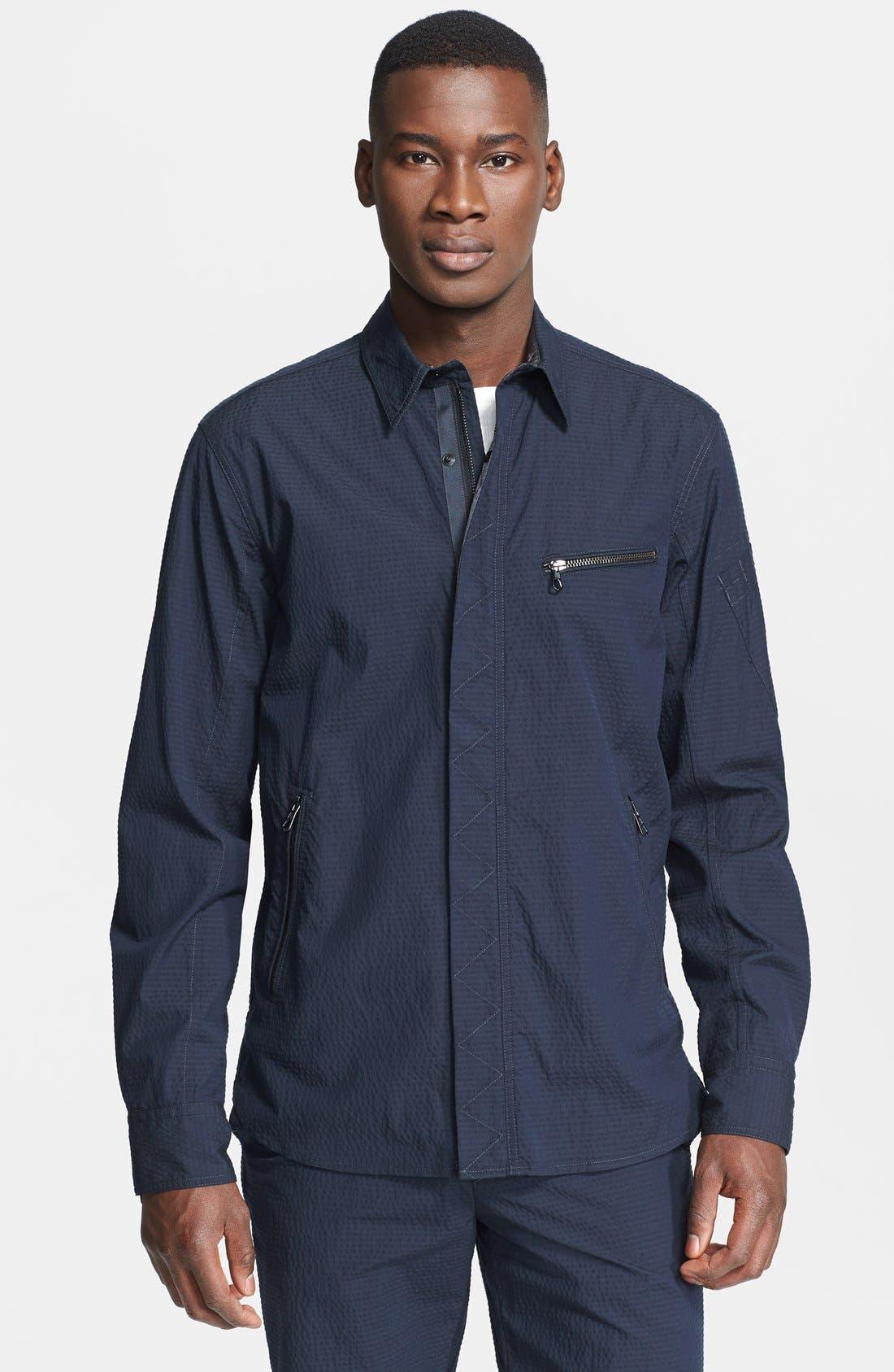Alternate Image 1 Selected - rag & bone 'Hendon' Seersucker Shirt Jacket