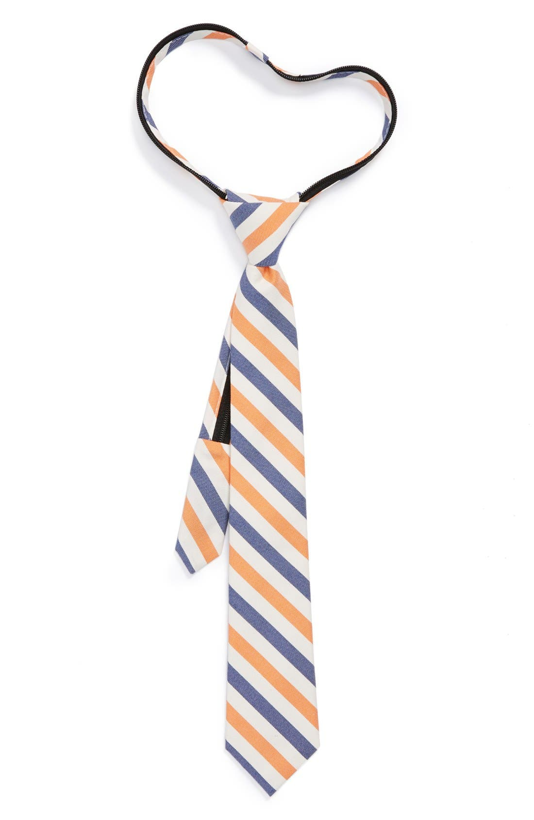 Alternate Image 1 Selected - Nordstrom Cotton & Silk Zipper Tie (Little Boys)