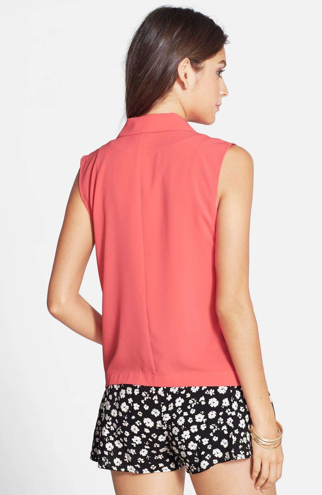 Alternate Image 2  - Frenchi® Draped Blazer-Style Vest (Juniors)