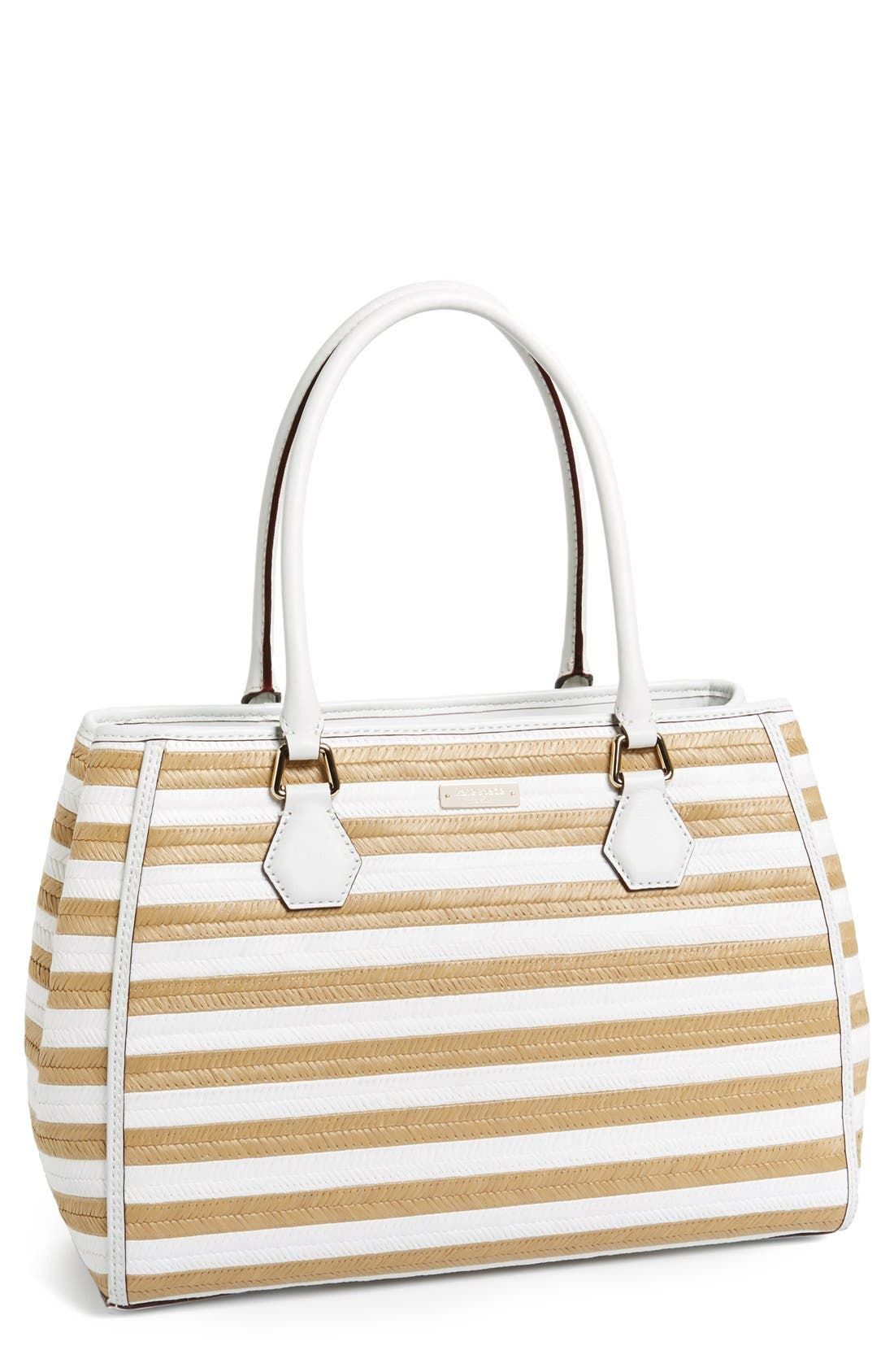 Main Image - kate spade new york 'catherine street - wensley' straw tote