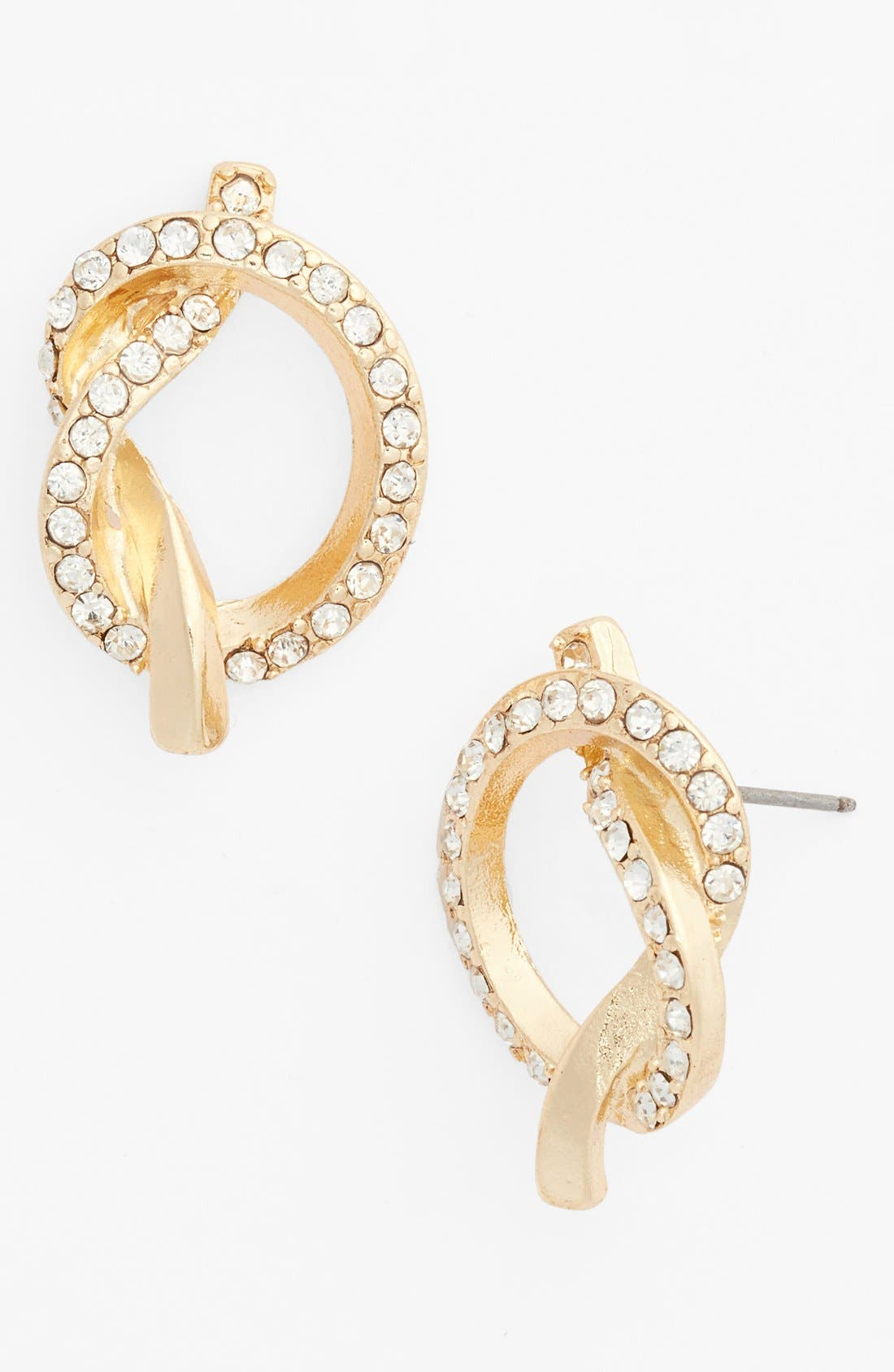 Main Image - Guinevere Crystal Knot Earrings
