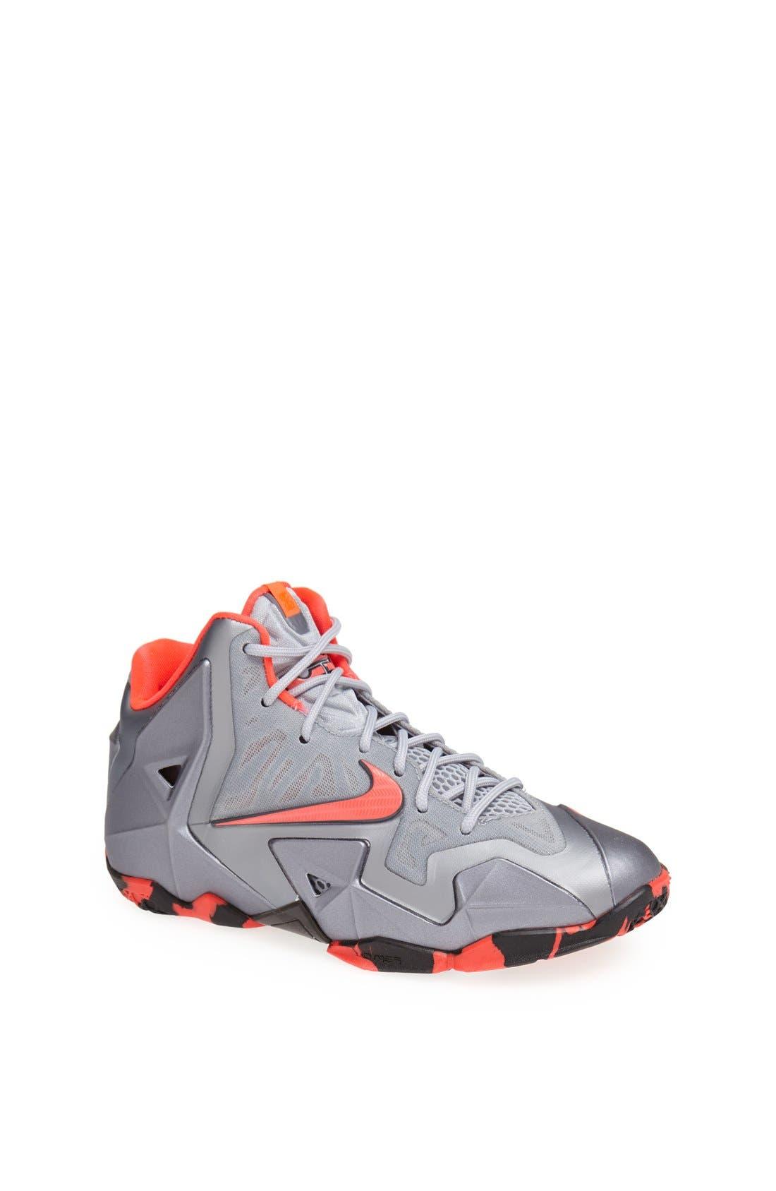 Alternate Image 1 Selected - Nike 'LeBron XI' Basketball Shoe (Big Kid)