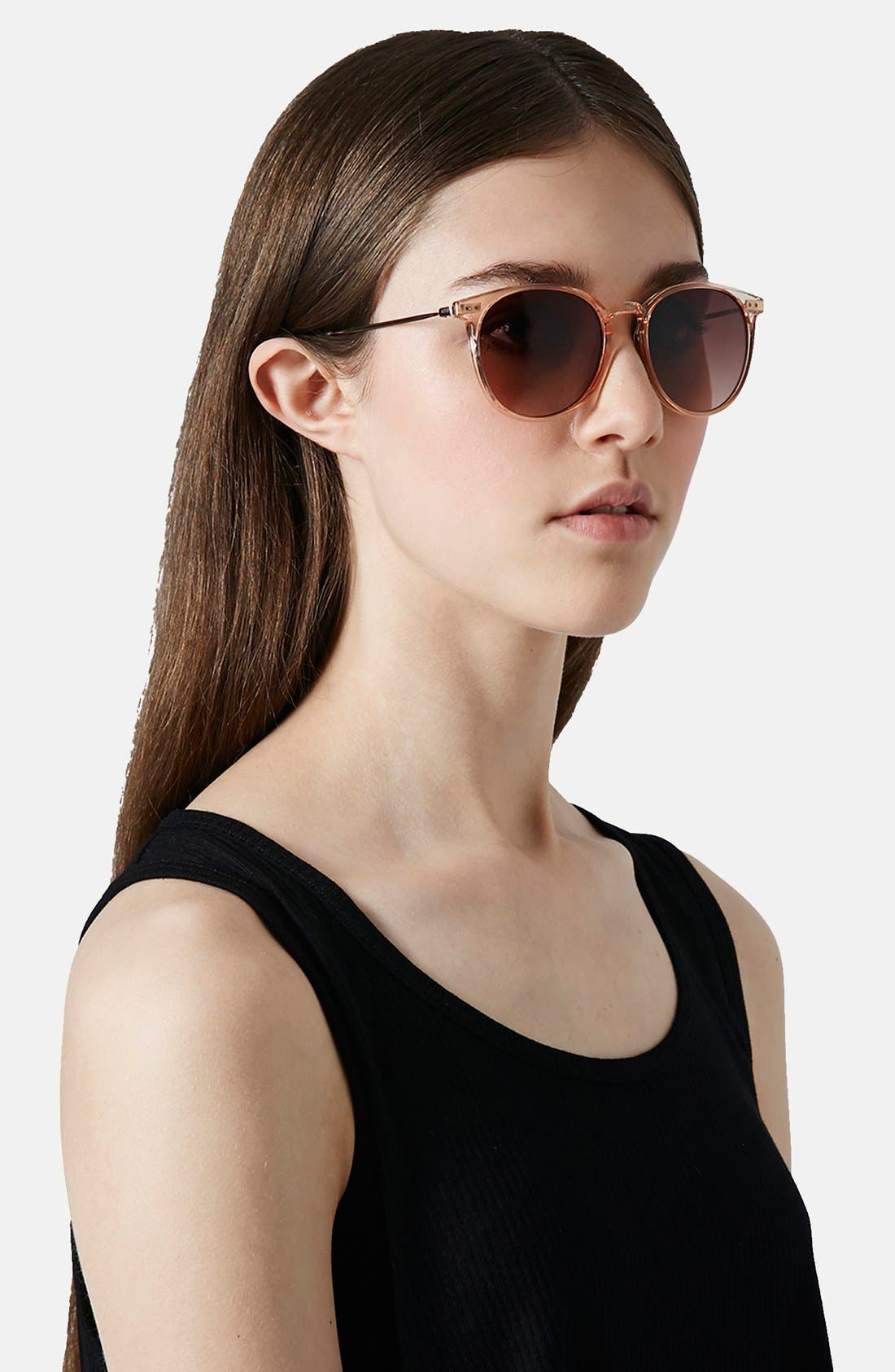 Alternate Image 3  - Topshop 51mm Slim Sunglasses
