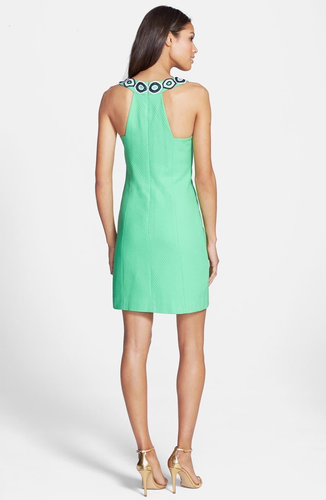 Alternate Image 2  - Lilly Pulitzer® 'Trudy' Lace Trim Jacquard Shift Dress