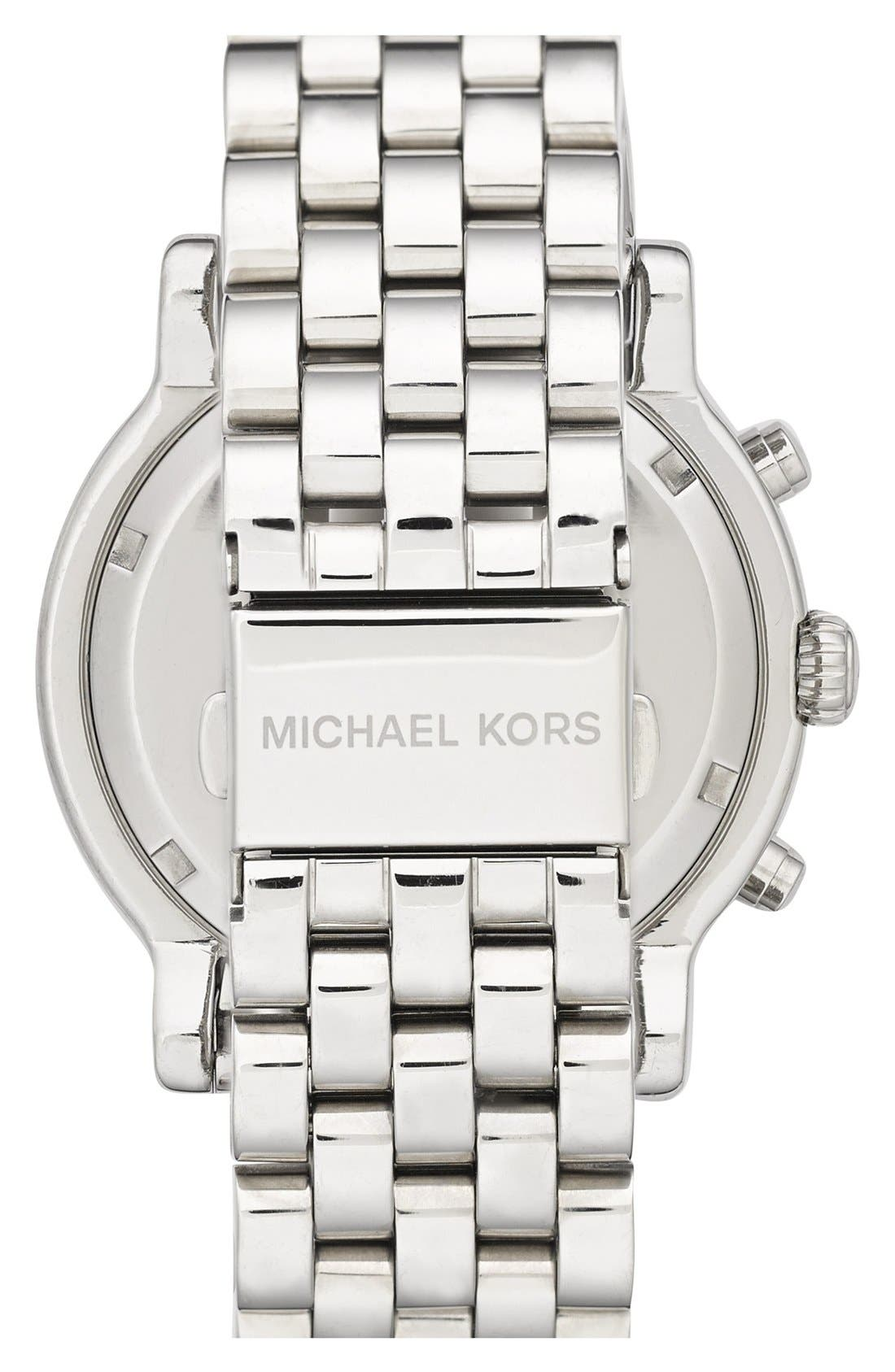 Alternate Image 2  - Michael Kors 'Baisley' Crystal Bezel Chronograph Bracelet Watch, 41mm (Nordstrom Exclusive)