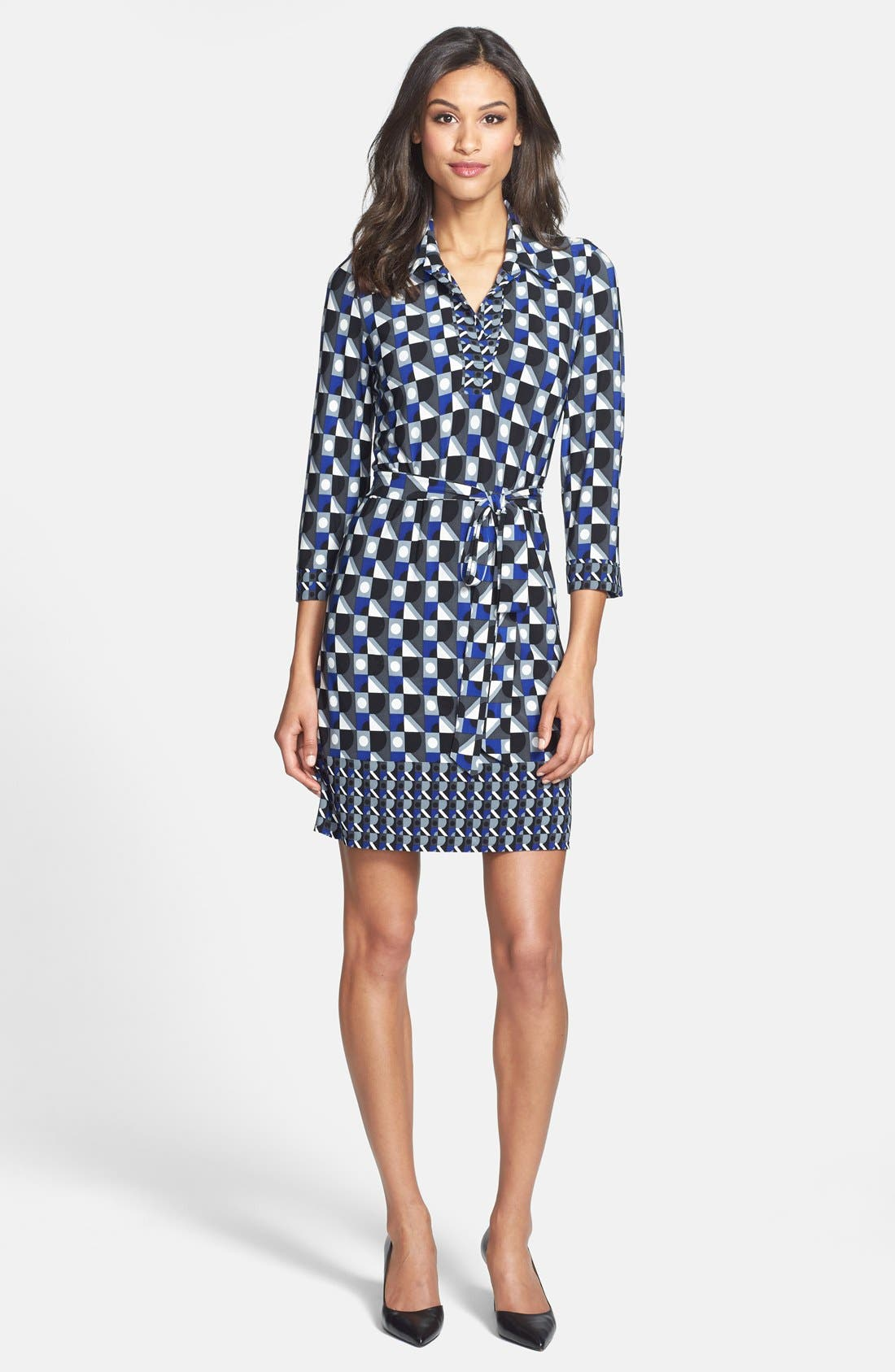 Alternate Image 3  - Laundry by Shelli Segal Matte Jersey Shirtdress