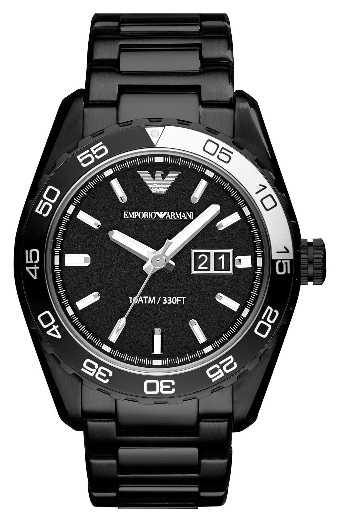 Alternate Image 1 Selected - Emporio Armani Round Bracelet Watch, 46mm