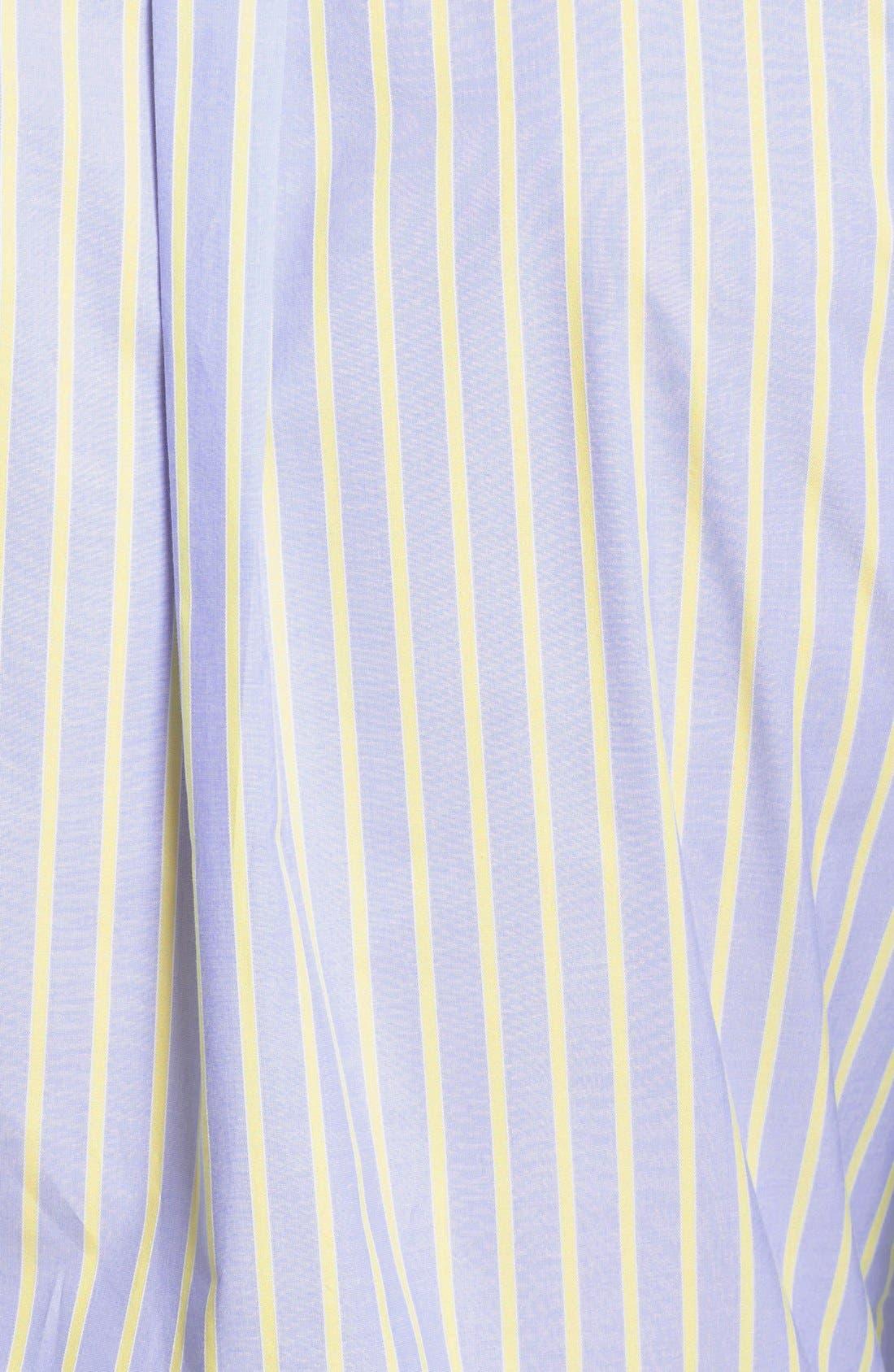 Alternate Image 3  - Façonnable Club Fit Stripe Sport Shirt