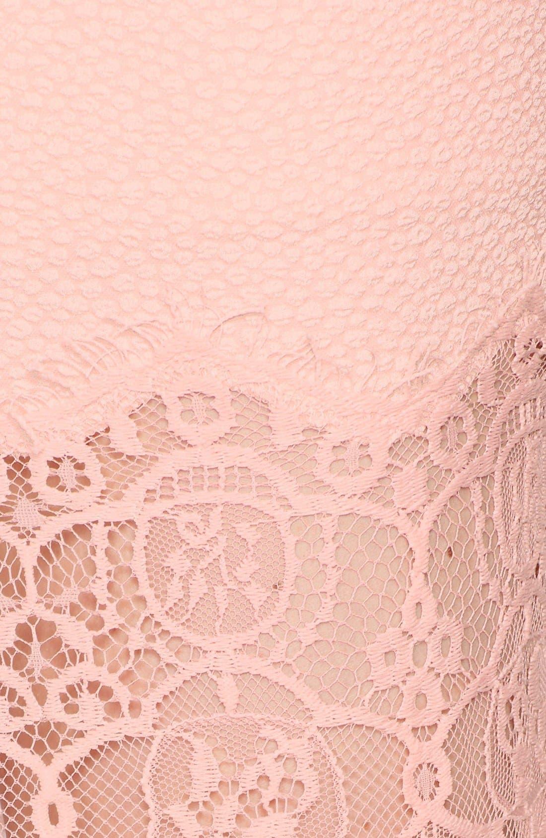 Alternate Image 3  - ASTR Textured Lace Hem Pencil Skirt