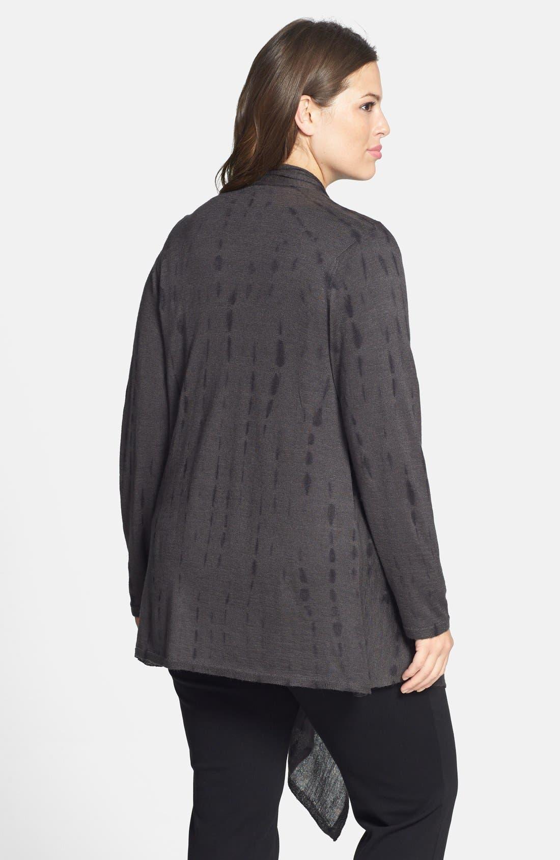 Alternate Image 2  - Eileen Fisher Tie Dye Alpaca & Silk Cardigan (Plus Size)