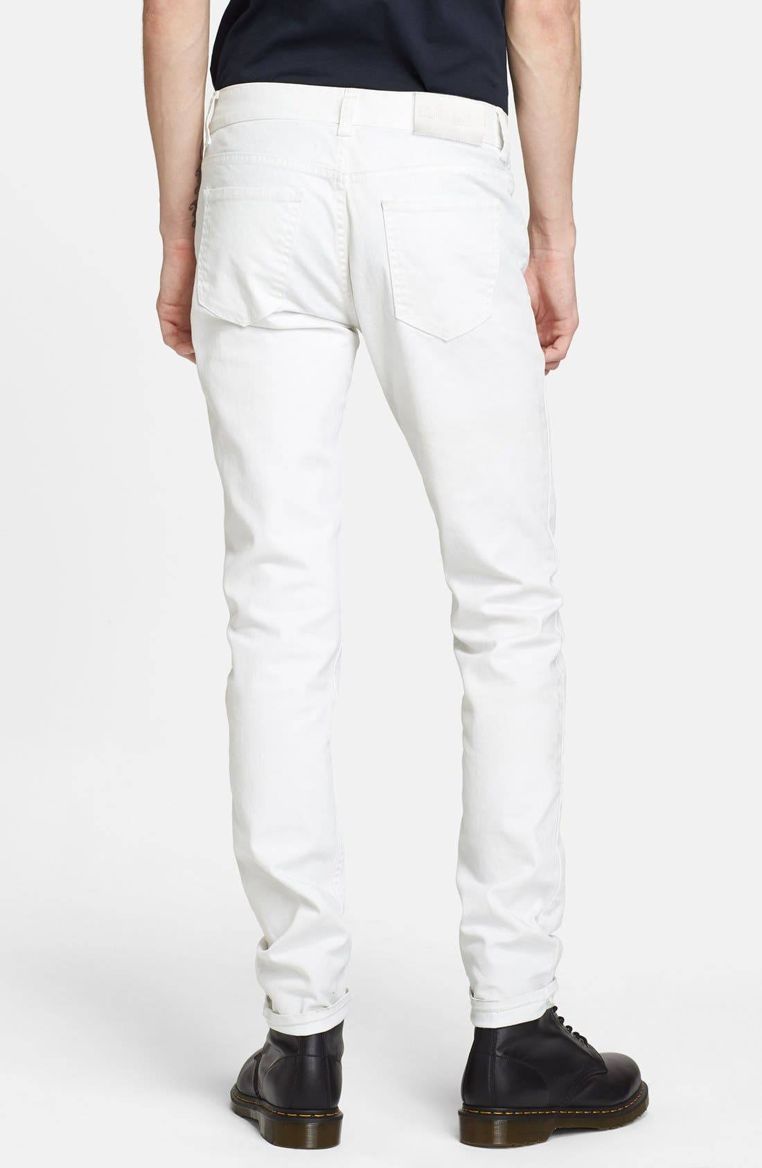 Alternate Image 2  - BLK DNM 'Jeans 5' Slim Straight Leg Coated Denim Jeans (Natural White)