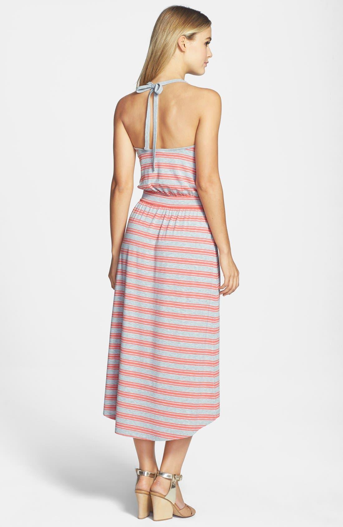 Alternate Image 2  - Caslon® Midi Faux Wrap Halter Dress (Regular & Petite)