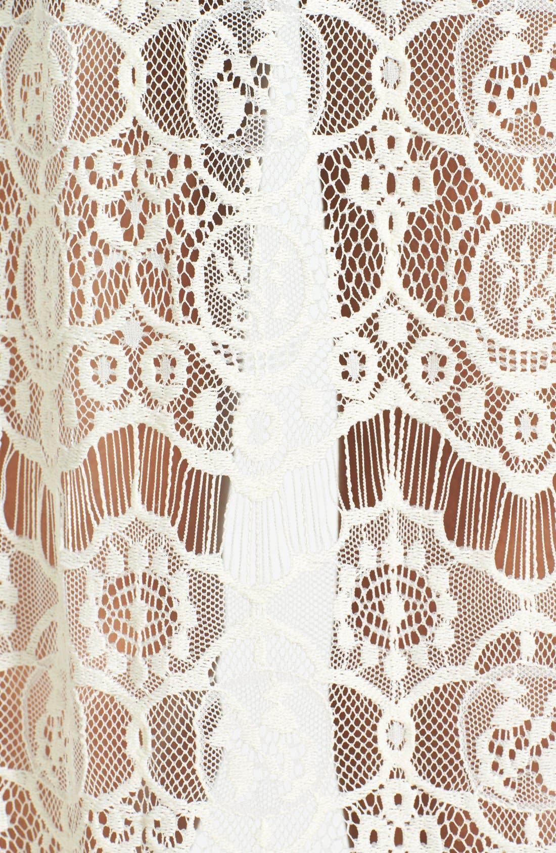 Alternate Image 3  - ASTR Lace Kimono Cardigan