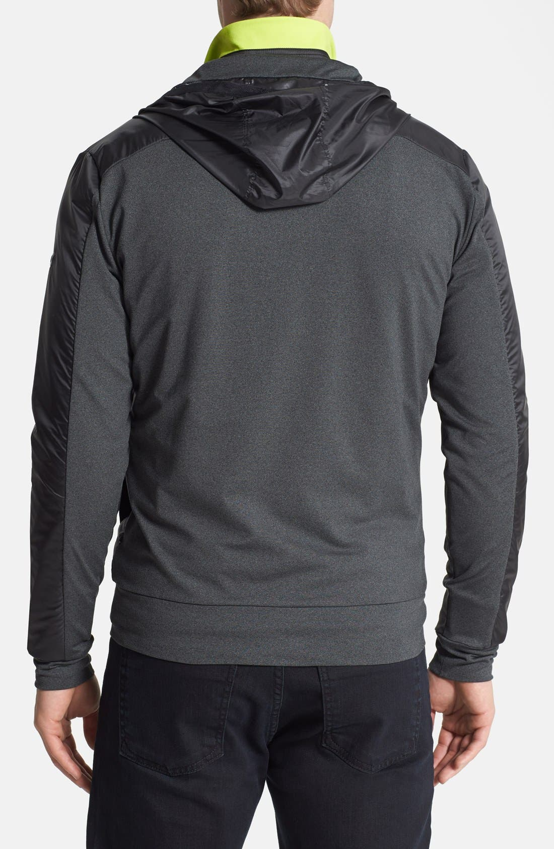 Alternate Image 2  - Victorinox Swiss Army® Moisture Wicking Technical Fleece Hooded Jacket (Online Only)