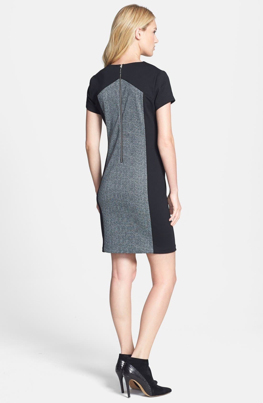 Alternate Image 2  - MICHAEL Michael Kors Colorblock Herringbone Print Dress