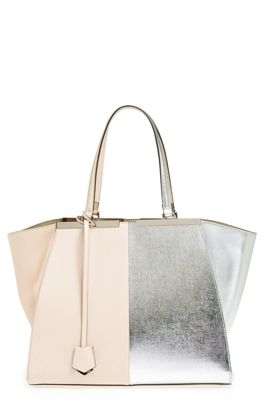 Alternate Image 1 Selected - Fendi '3Jours' Bicolor Leather Shopper