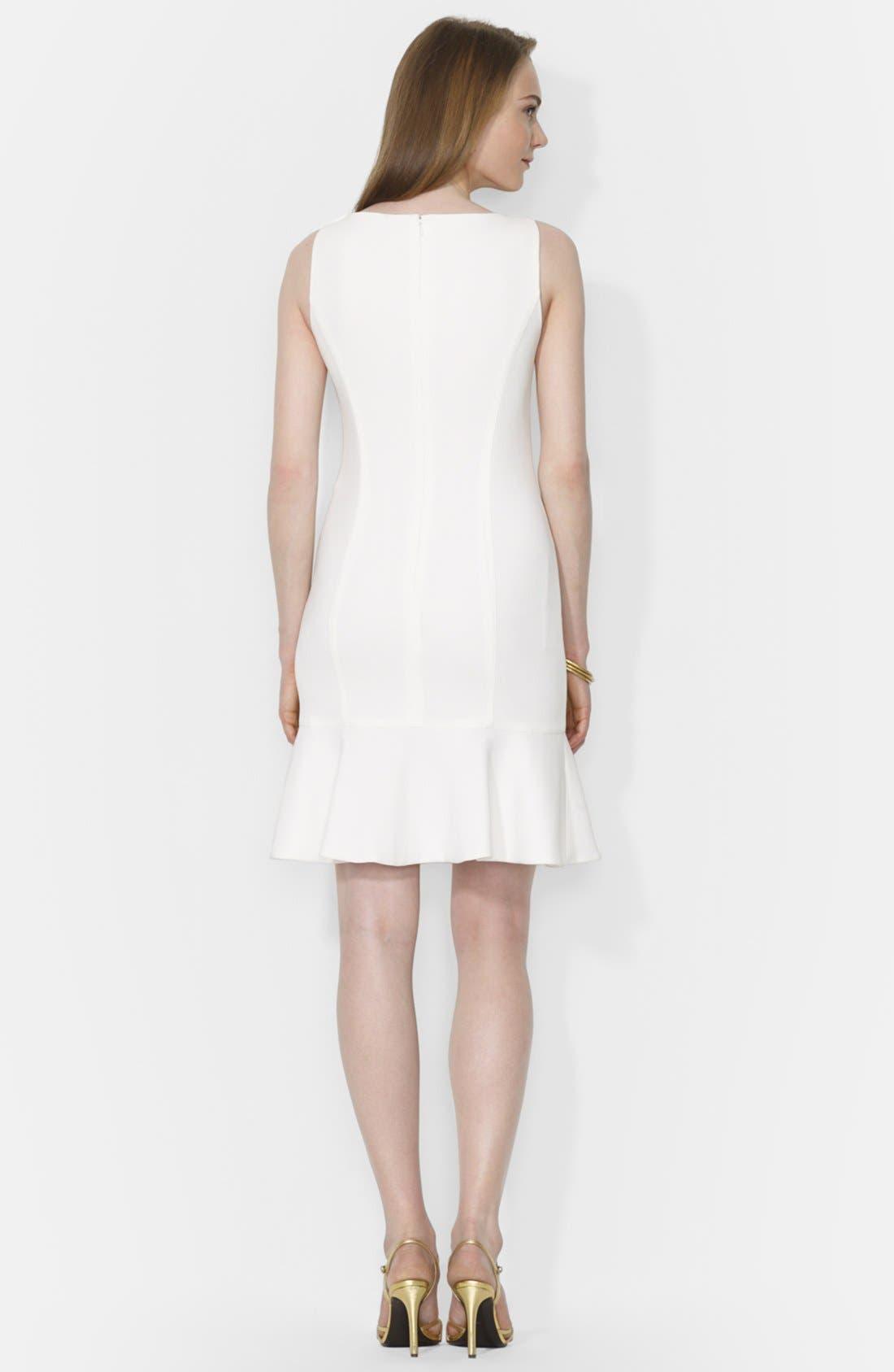 Alternate Image 2  - Lauren Ralph Lauren Sleeveless Drop Waist Dress