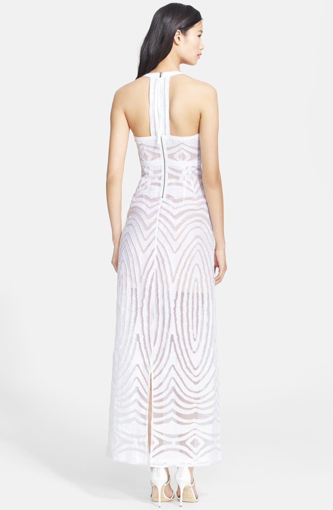 Alternate Image 2  - Tracy Reese Linen Blend Burnout Maxi Dress