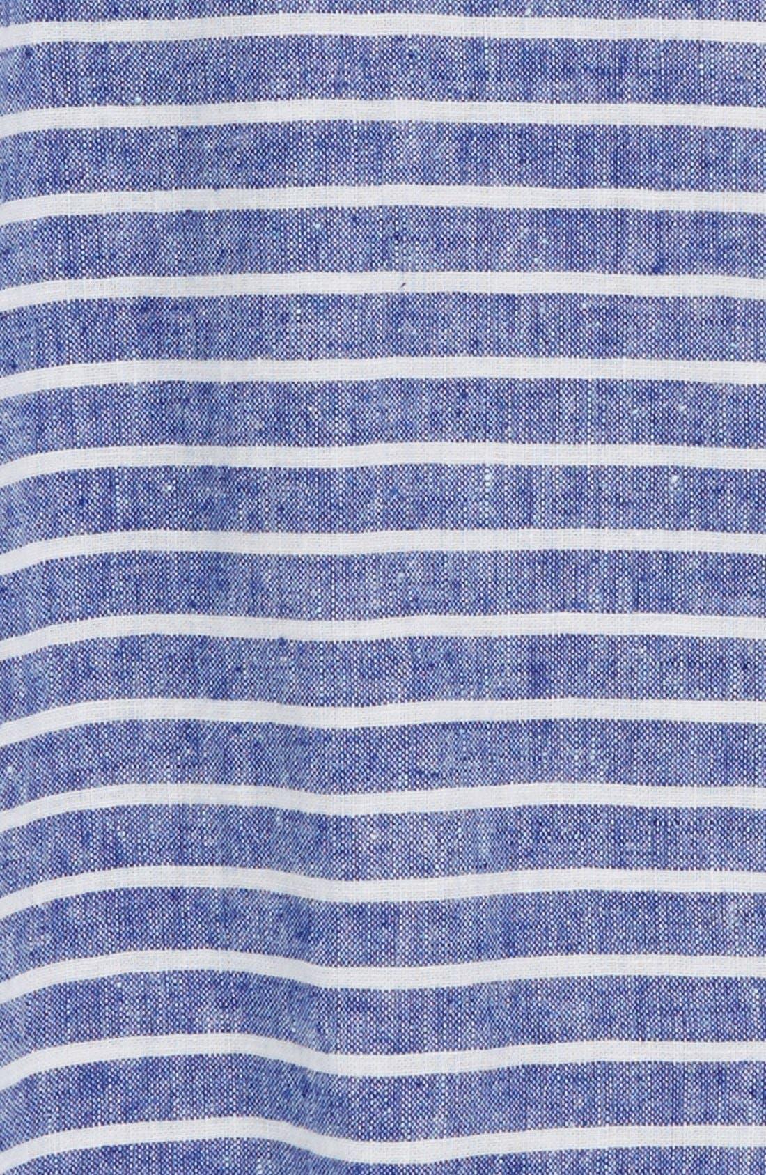 Alternate Image 2  - Johnnie B by Boden 'Summer' Button Front Linen & Cotton Shirt (Big Boys)