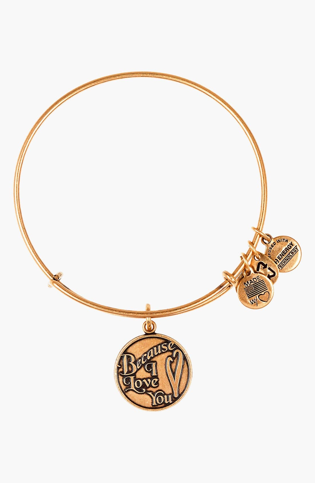 Alternate Image 1 Selected - Alex and Ani 'Because I Love You' Expandable Wire Bangle