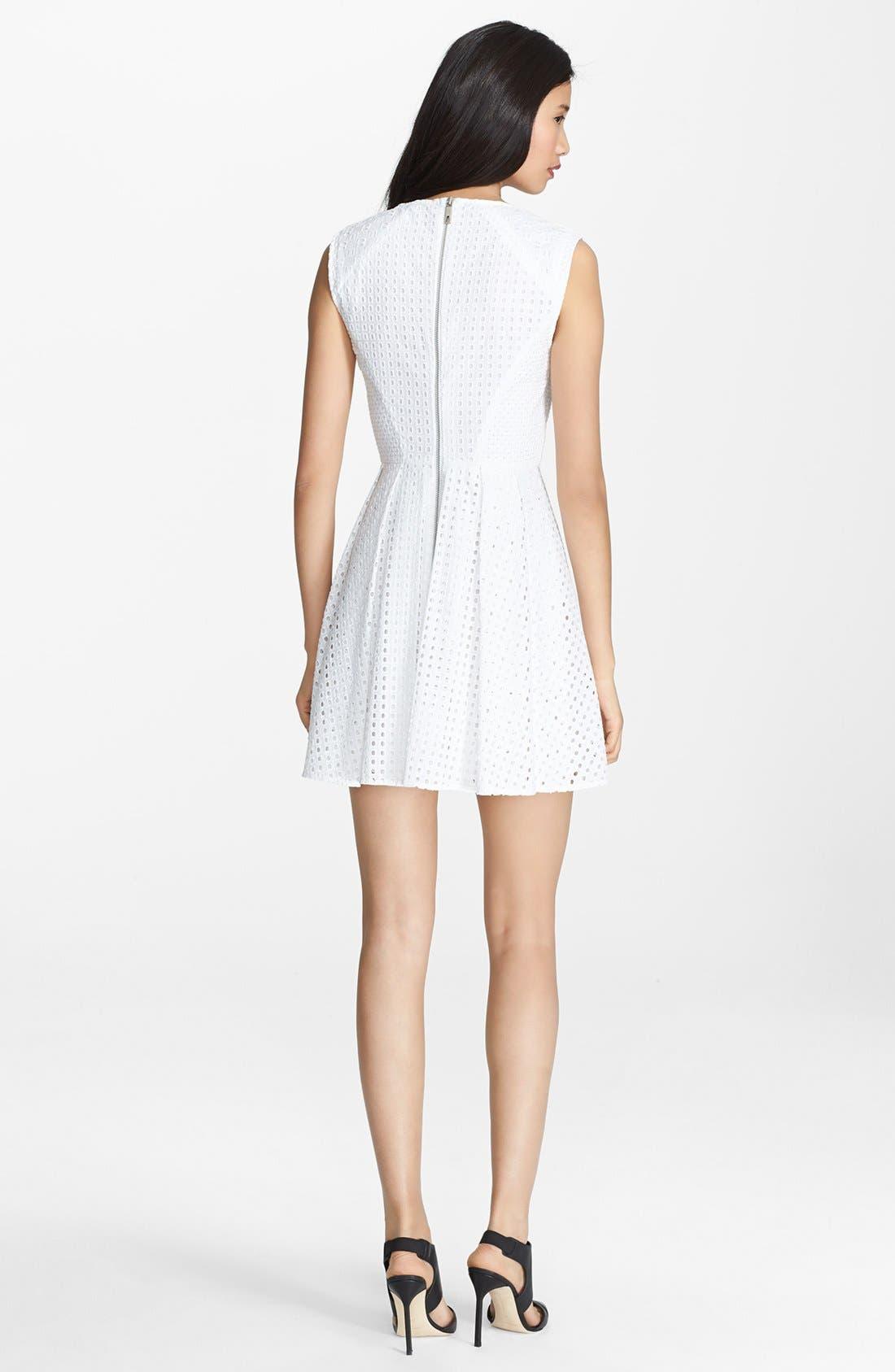 Alternate Image 2  - Rachel Zoe 'Marcel' Cotton Eyelet Fit & Flare Dress