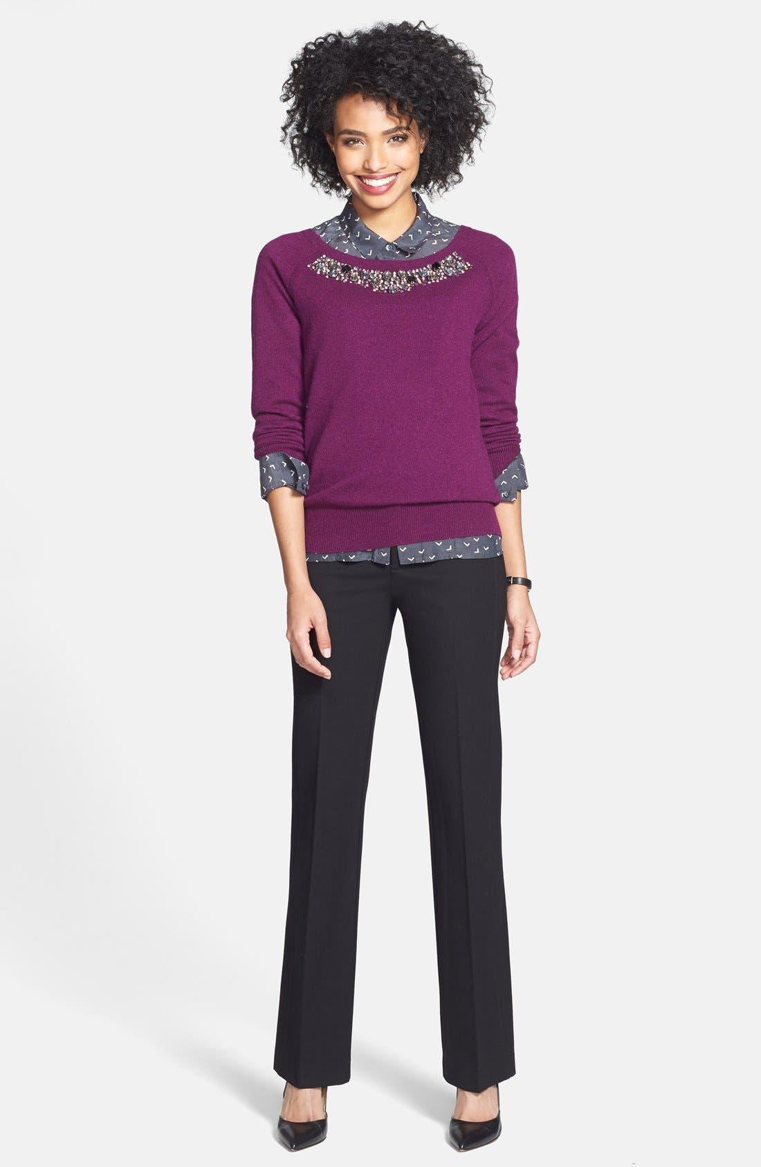 Alternate Image 2  - NYDJ Stretch Ponte Knit Trousers (Petite)