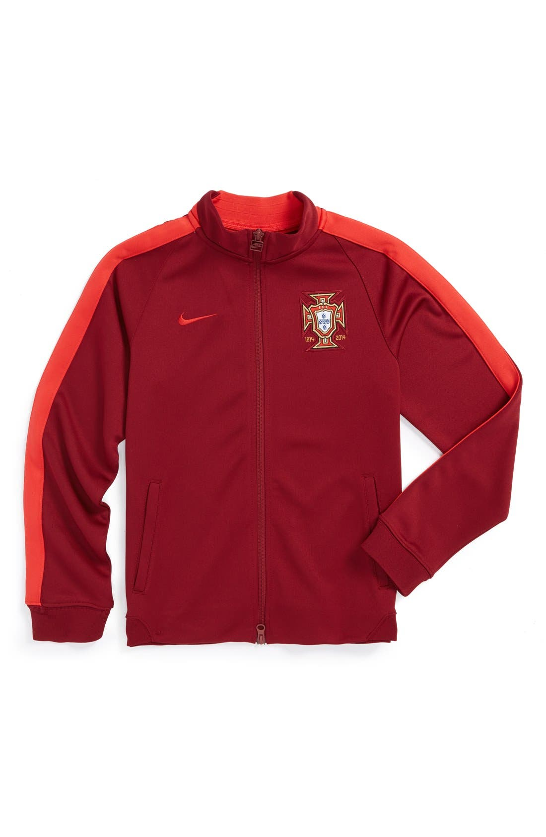 Alternate Image 1 Selected - Nike 'Portugal - N98 World Soccer Authentic' Track Jacket (Big Boys)