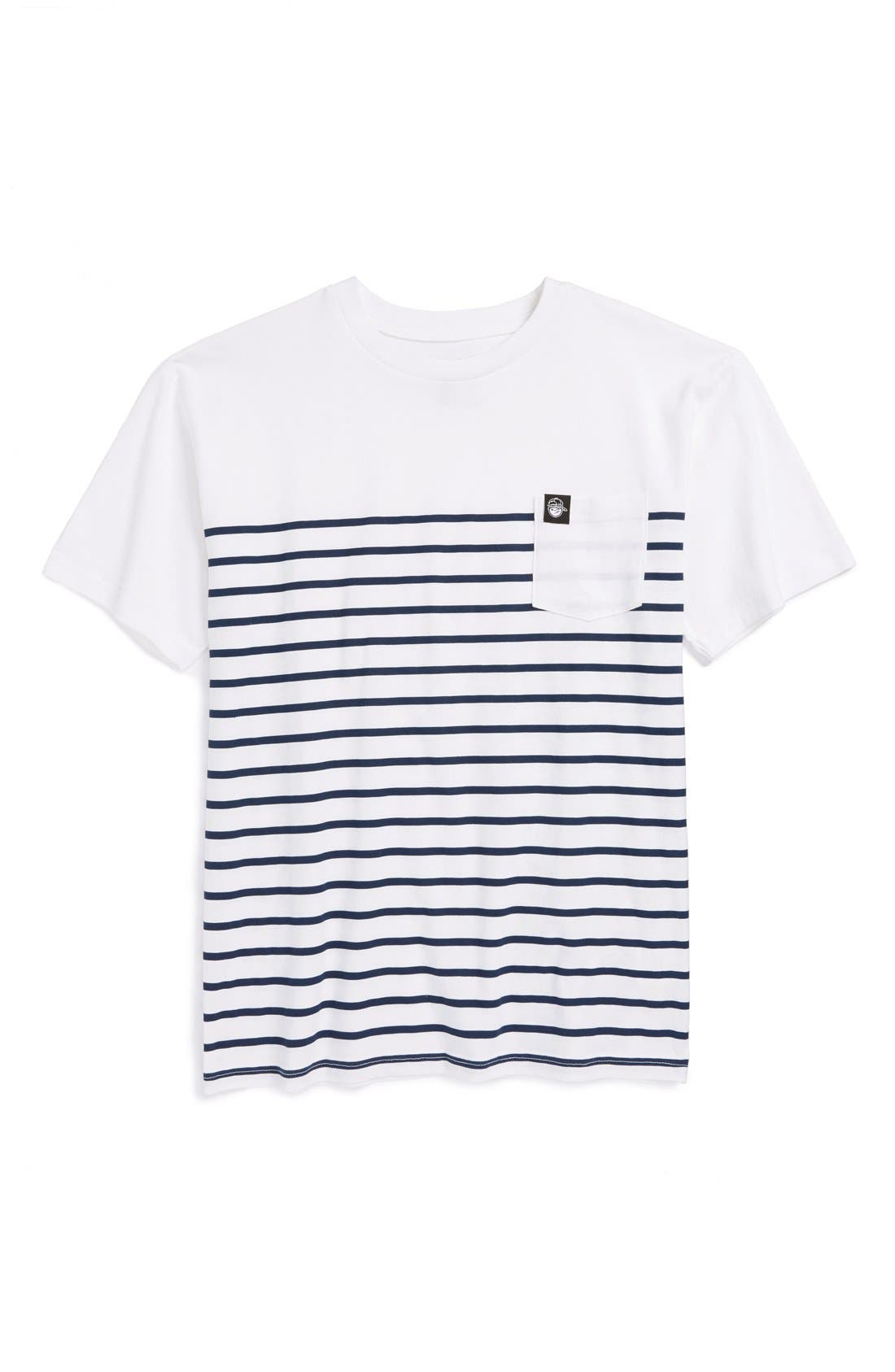 Alternate Image 1 Selected - Neff Stripe Crewneck Cotton T-Shirt (Big Boys)