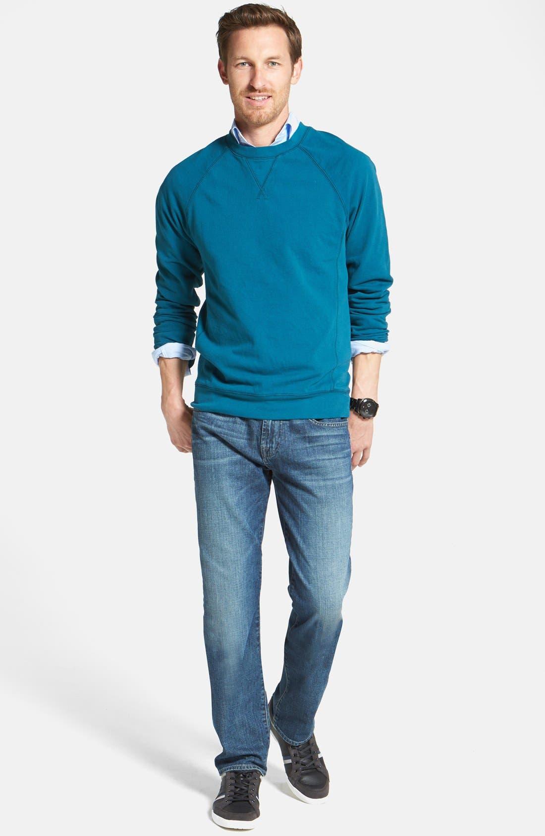 Alternate Image 7  - 7 For All Mankind® 'The Straight' Modern Straight Leg Jeans (Blueridge)