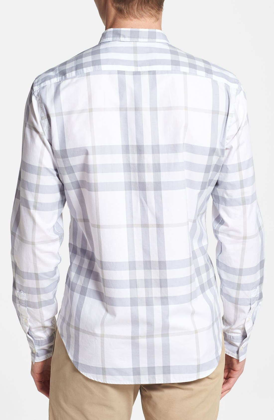 Alternate Image 2  - Burberry Brit 'Niall' Check Trim Fit Cotton Sport Shirt