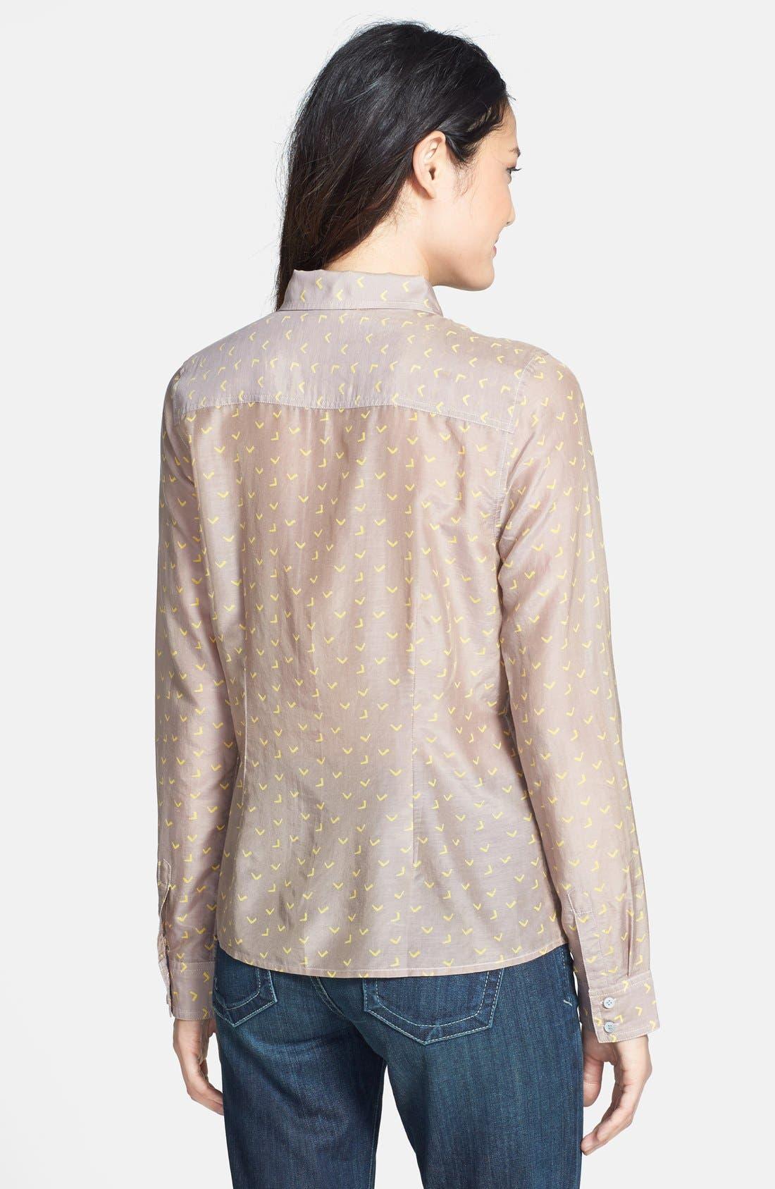 Alternate Image 2  - Halogen® Cotton & Silk Shirt (Regular & Petite)